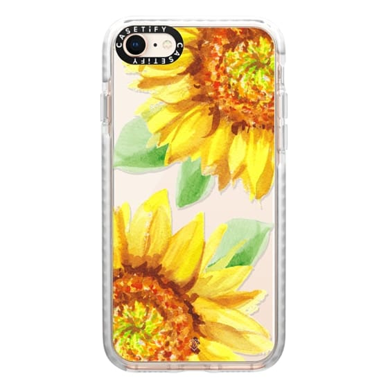 iPhone 8 Cases - Watercolor Rustic Sunflowers