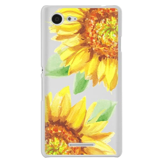 Sony E3 Cases - Watercolor Rustic Sunflowers