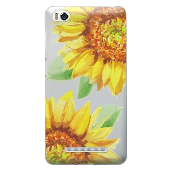 Xiaomi 4i Cases - Watercolor Rustic Sunflowers