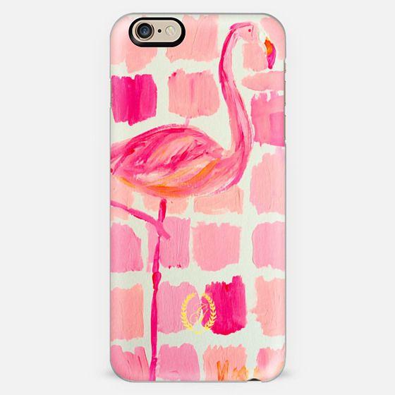 Pink Flamingo Painting - Preppy Art -