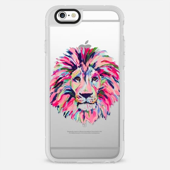 Lion Head Painting Preppy Chic Clear Case