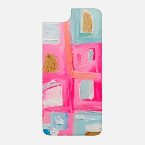 Pink Gold Abstract Art Preppy Painting - New Standard Backplate