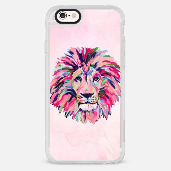 Lion Head Preppy Painting Art - New Standard Case