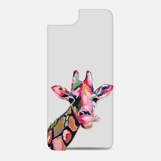 Giraffe Head Pink Painting - New Standard Backplate