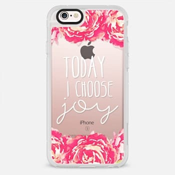 iPhone 6s Plus Case Today I Choose Joy Pink Peony