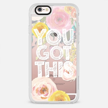 iPhone 6s Plus ケース You Got This Watercolor Floral 2