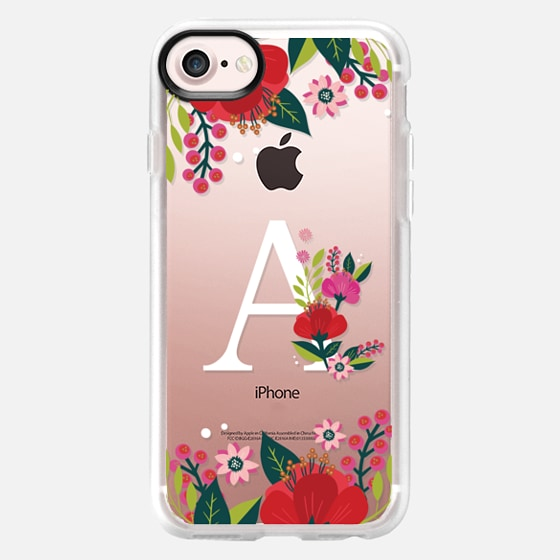 Tropical Monogram A - Classic Grip Case