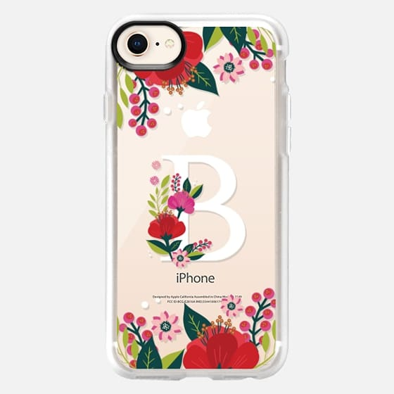 Tropical Monogram B - Snap Case