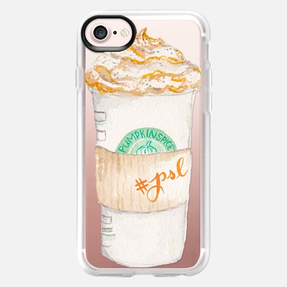 Pumpkin Spice Latte Starbucks Coffee Mug Watercolor - Wallet Case