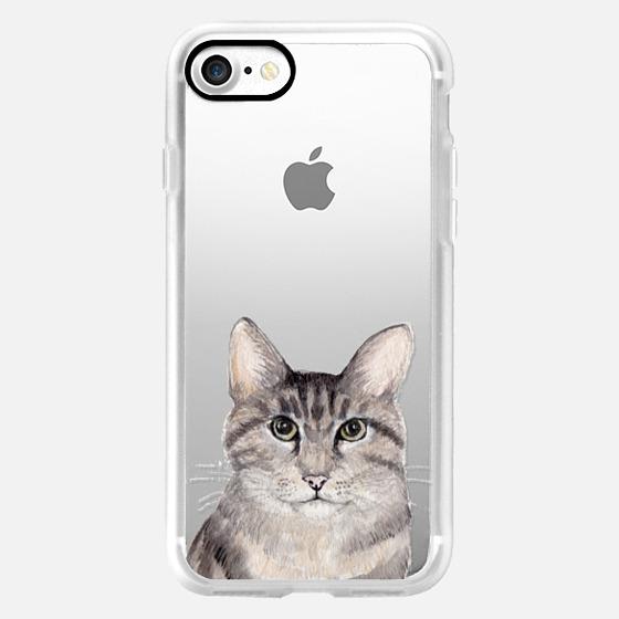 Watercolor Tabby Cat -