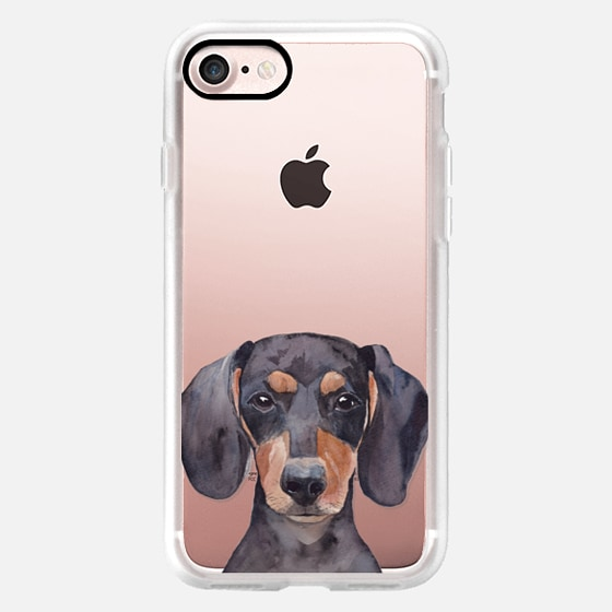 Watercolor Dachshund Dog Puppy Pet Portrait -