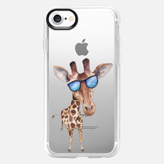 Watercolor Giraffe with Sunglasses - Classic Grip Case
