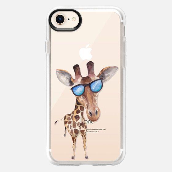 Watercolor Giraffe with Sunglasses - Snap Case