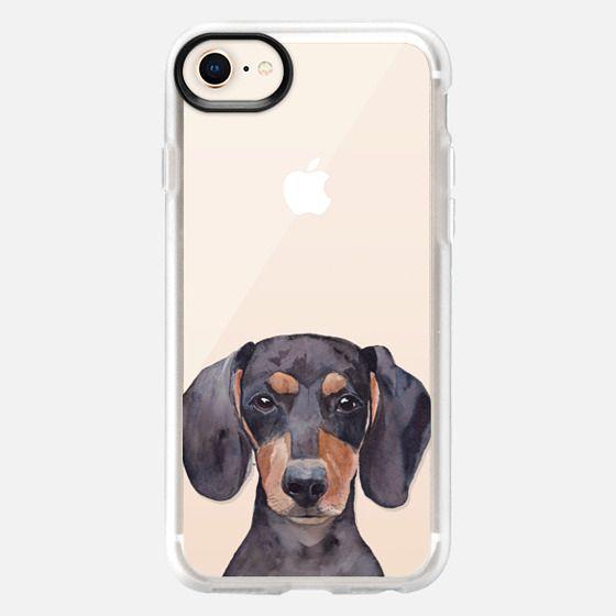 Watercolor Dachshund Dog Puppy Pet Portrait - Snap Case