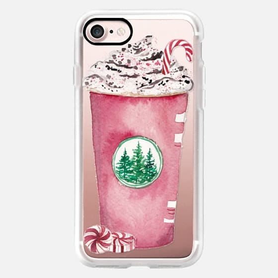 Red Cup Season Christmas Starbucks Peppermint Mocha Candy Cane Coffee Cup -