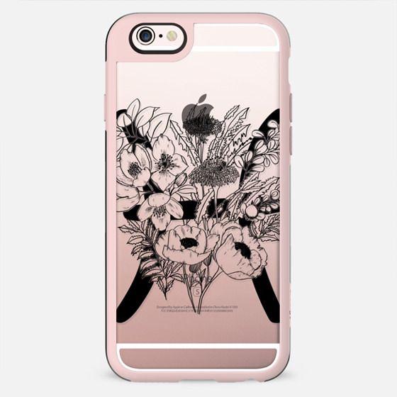 Floral Zodiac - Pisces - Black - New Standard Case