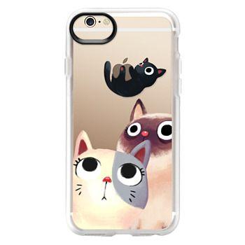 Grip iPhone 6 Case - the flying kitten