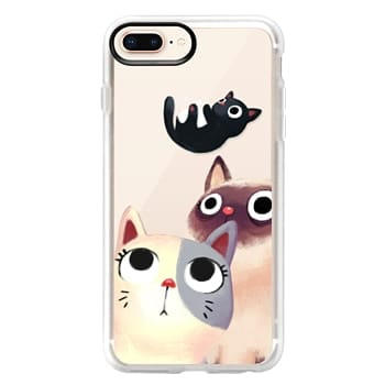 Grip iPhone 8 Plus Case - the flying kitten