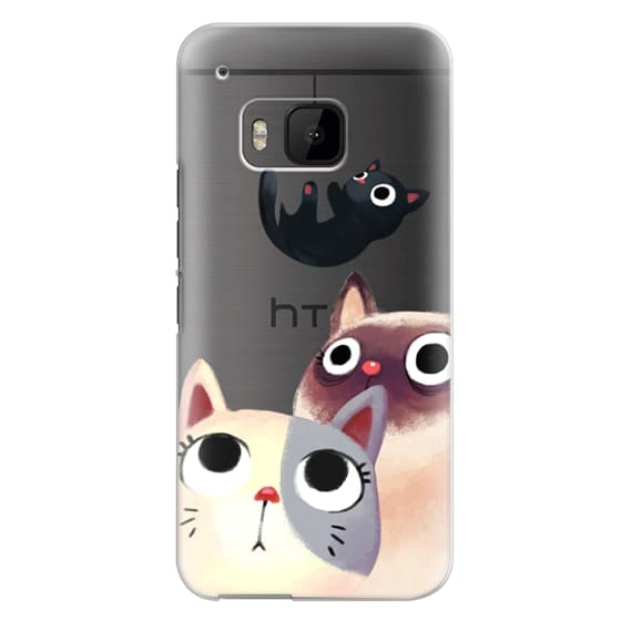 Htc One M9 Cases - the flying kitten