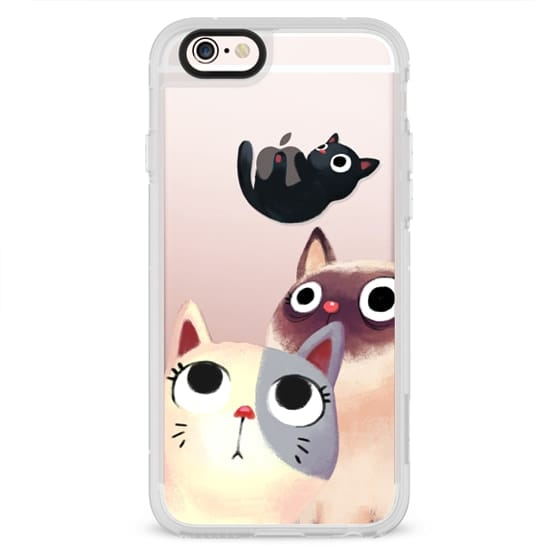 iPhone 4 Cases - the flying kitten