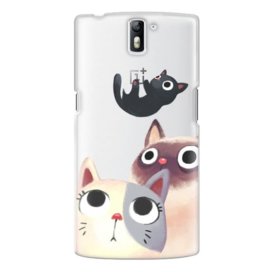 One Plus One Cases - the flying kitten