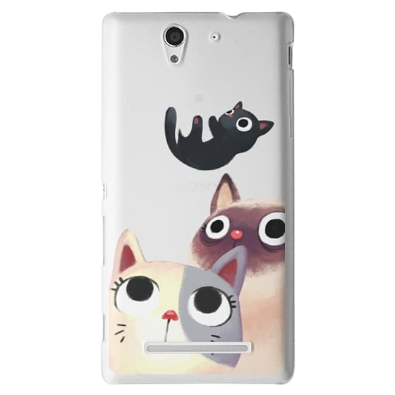 Sony C3 Cases - the flying kitten