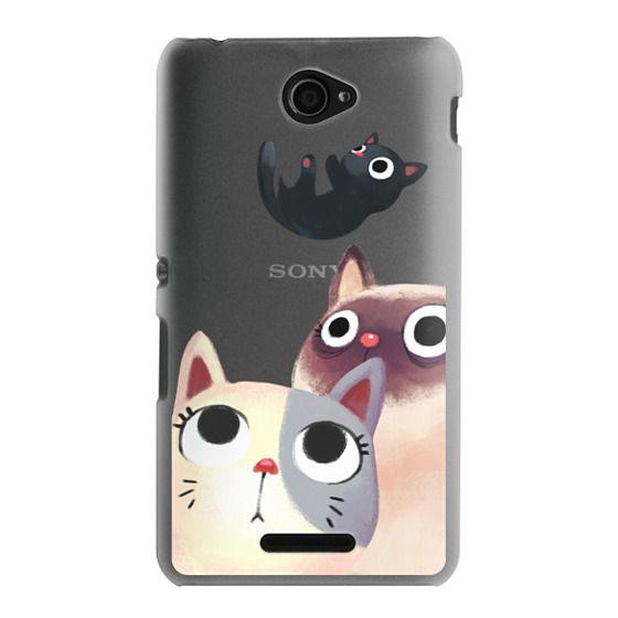 Sony E4 Cases - the flying kitten