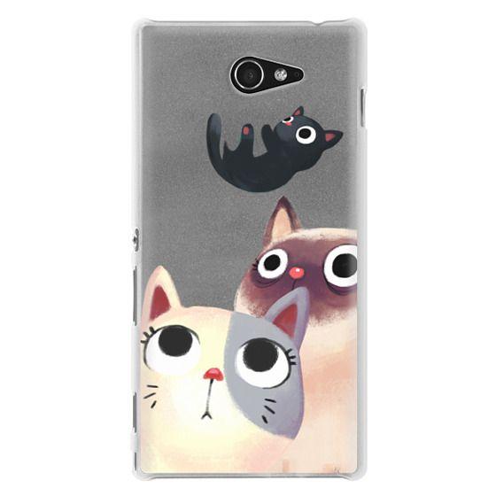 Sony M2 Cases - the flying kitten