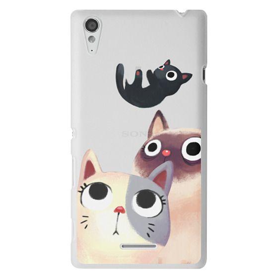 Sony T3 Cases - the flying kitten