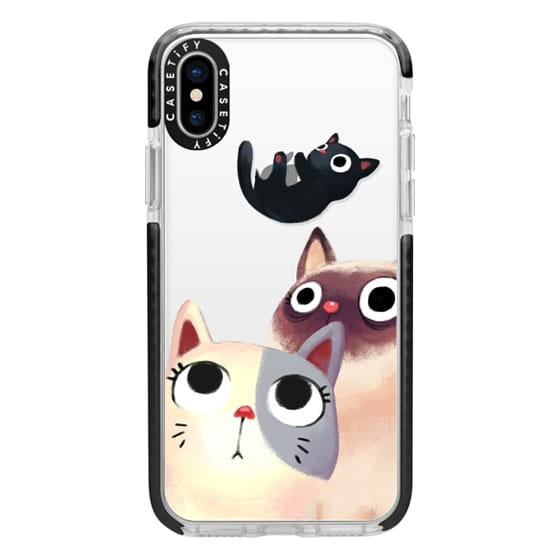 iPhone X Cases - the flying kitten