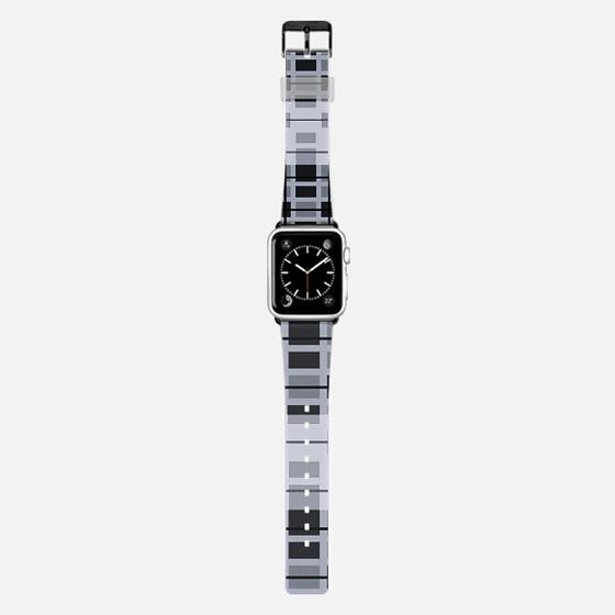 Tech Geometric Black Grey White Stylish Geek Design -