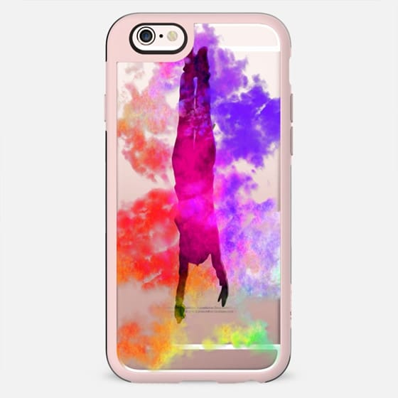 Falling in a Colorful Dream - Silhouette and Clouds - New Standard Case