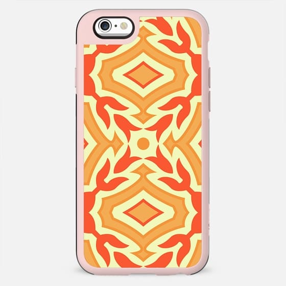 Yellow and Orange Pattern Design Geometric