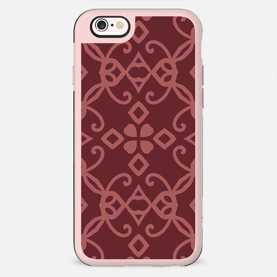 Retro Pattern Decorative Design with Hearts - New Standard Case