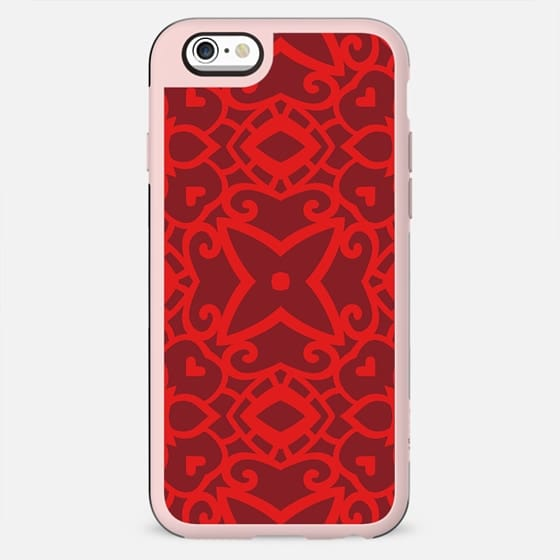 Red Decorative Pattern Geometric Design - New Standard Case