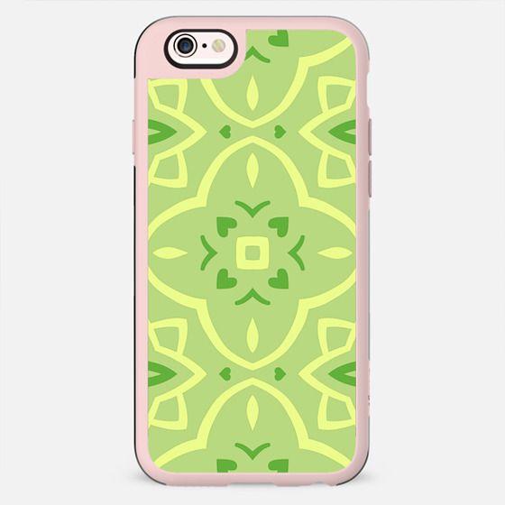 Lime Green Decorative Pattern Geometric Design