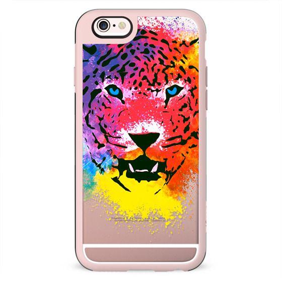 Tiger Paint Splatters Cool Colorful Portrait