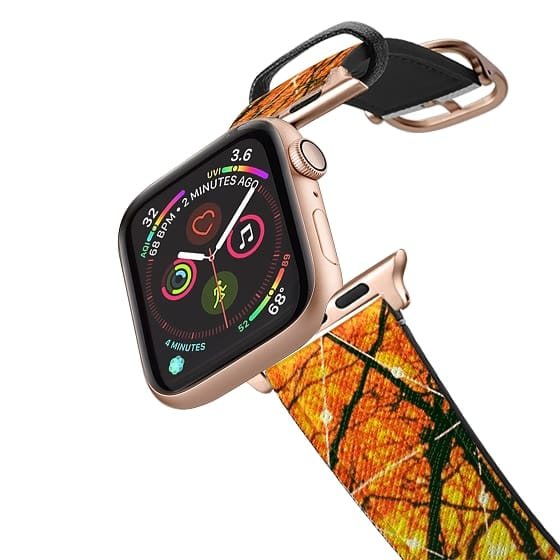 Apple Watch 42mm Bands - Trees and Sunset Lovely Orange Design