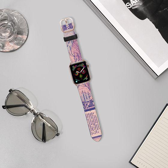 Saffiano Watchband - Vintage Money Bill Europe Unique Design