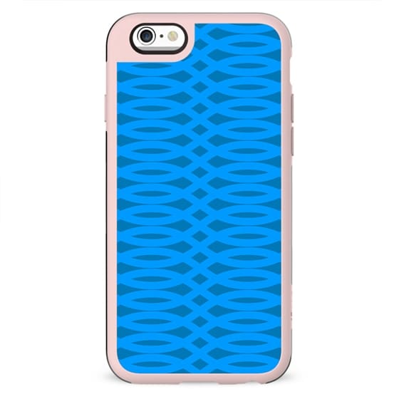 Abstract Blue Lines Waves Summer Pattern