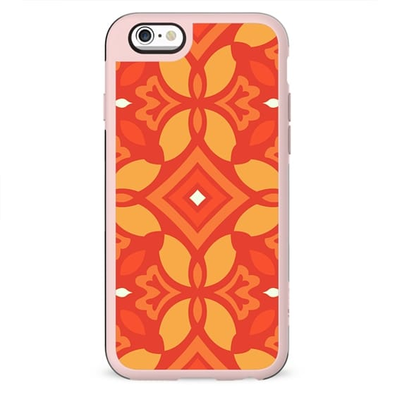 Orange and Yellow Decorative Pattern Design