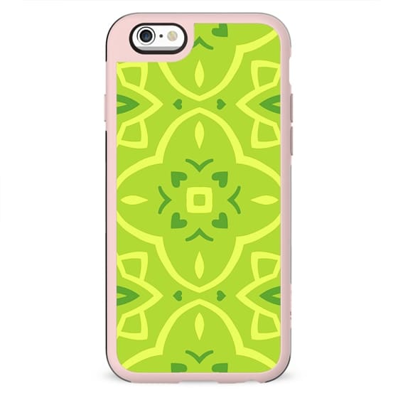 Lime Green Decorative Pattern Geometric Design