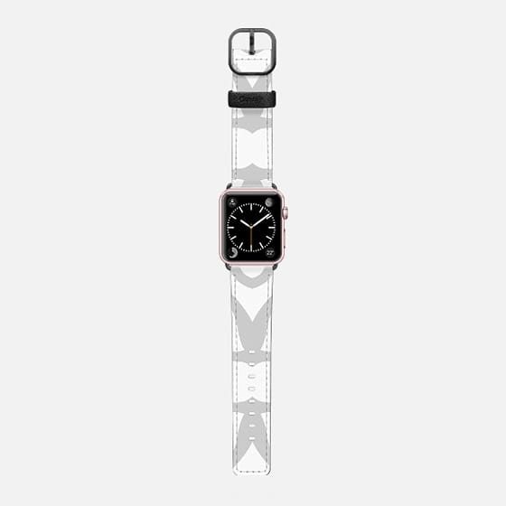 Gray and White Pattern - Saffiano Leather Watch Band