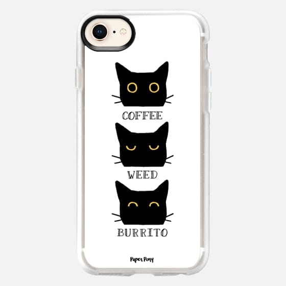 Coffee Weed Burrito Cat by Paper Pony Co. - Snap Case