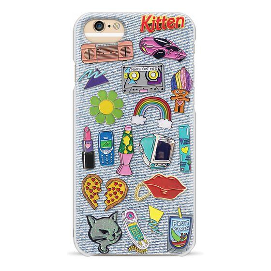 iPhone 6 Cases - 90's Pins on Denim