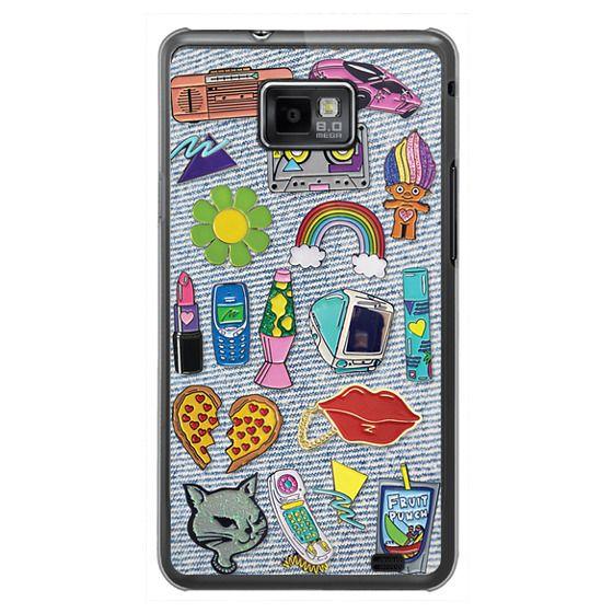 Samsung Galaxy S2 Cases - 90's Pins on Denim