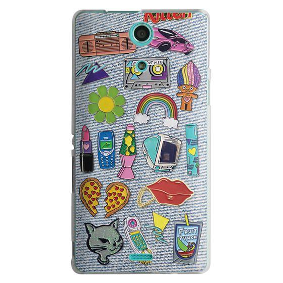 Sony Zr Cases - 90's Pins on Denim