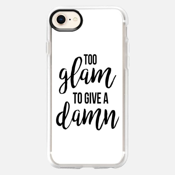 Too Glam White - Snap Case
