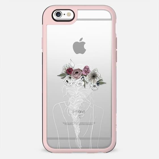 Floral Hair - White - New Standard Case