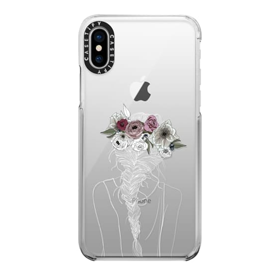 iPhone 7 Plus Cases - Floral Hair - White